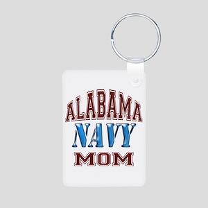 Alabama Navy Aluminum Photo Keychain