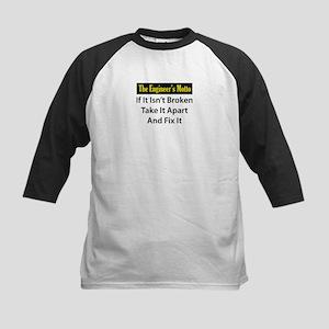 Engineer's Motto Kids Baseball Jersey