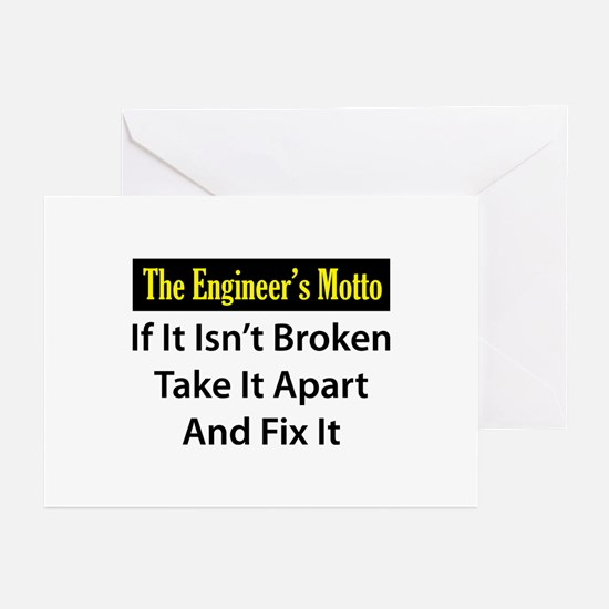 Engineer's Motto Greeting Cards (Pk of 10)