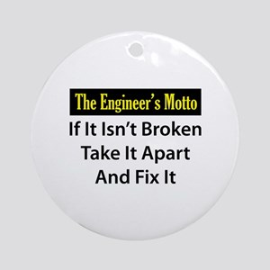 Engineer's Motto Ornament (Round)