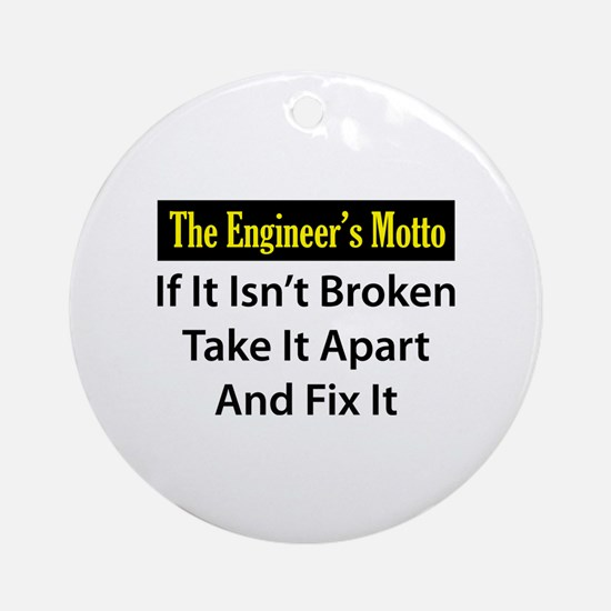 Engineer's Motto Ornament (Round)