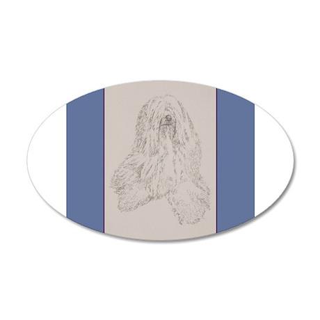 Tibetan Terrier 38.5 x 24.5 Oval Wall Peel