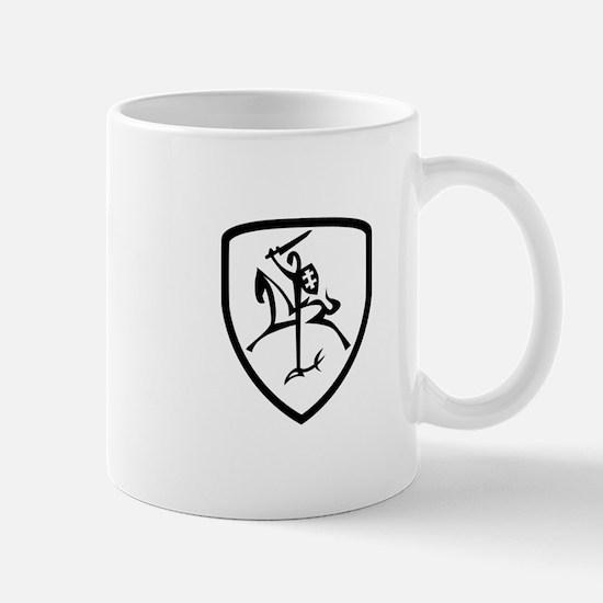 Black and White Vytis Mug