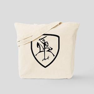 Black and White Vytis Tote Bag