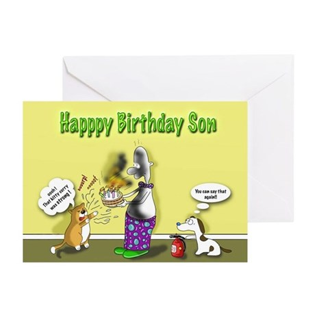 Funny Birthday Son Cards (Pk of 10) by fatcat_duncan