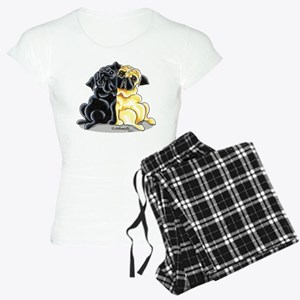 Black Fawn Pug Women's Light Pajamas
