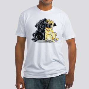 Black Fawn Pug Fitted T-Shirt