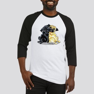 Black Fawn Pug Baseball Jersey
