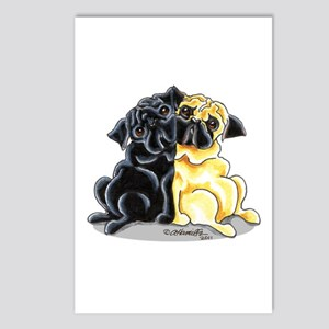 Black Fawn Pug Postcards (Package of 8)