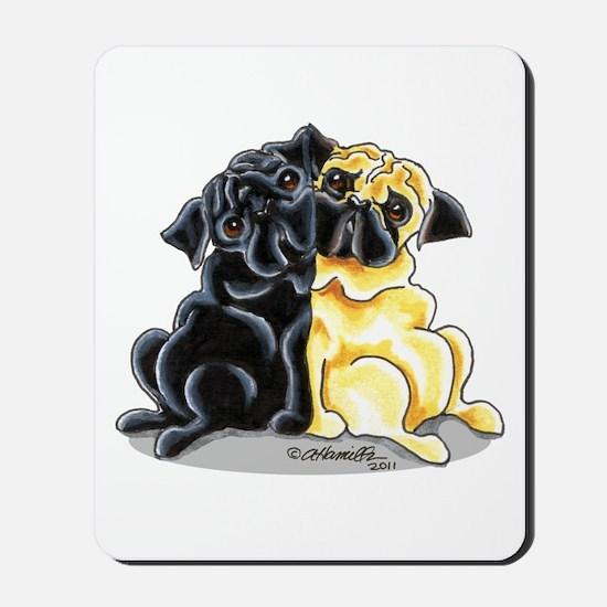 Black Fawn Pug Mousepad