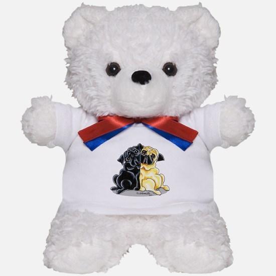 Black Fawn Pug Teddy Bear