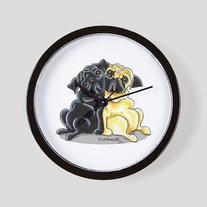 Black Fawn Pug Wall Clock