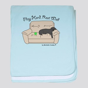 Black Lab - Play Hard baby blanket