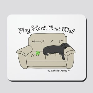 Black Lab - Play Hard Mousepad