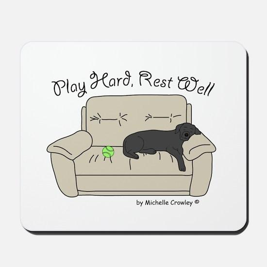 Black Lab - Play Hard Mousepad