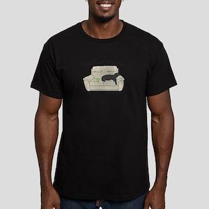 Black Lab - Play Hard Men's Fitted T-Shirt (dark)