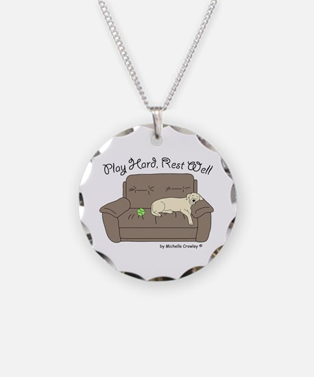 Yellow Lab - Play Hard Necklace