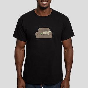 Yellow Lab - Play Hard Men's Fitted T-Shirt (dark)