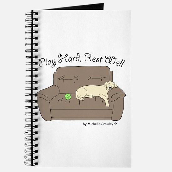 Yellow Lab - Play Hard Journal