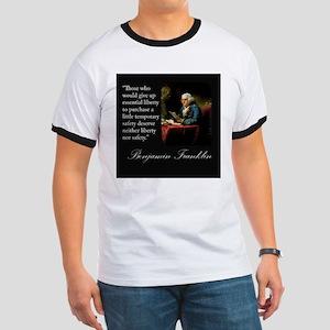 Ben Franklin Quote Portrait Ringer T