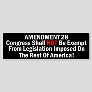 Amendment 28-Congress Shall Not Be Exempt Sticker