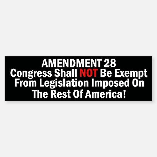 Amendment 28-Congress Shall Not Be Exempt Car Car Sticker