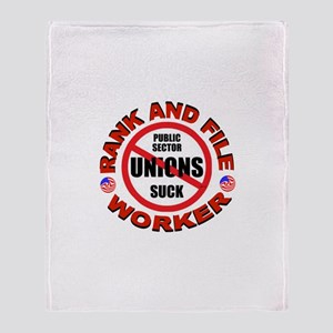 RIGHT TO WORK Throw Blanket