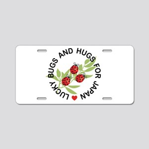 Lucky Ladybugs for Japan Aluminum License Plate