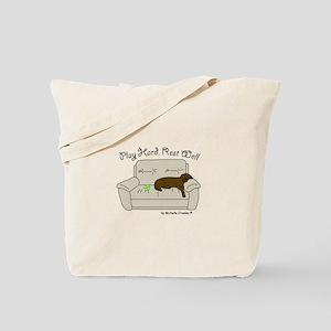 Chocolate Lab - Play Hard Tote Bag