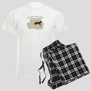 Chocolate Lab - Play Hard Men's Light Pajamas