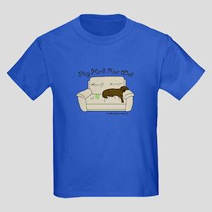 Chocolate Lab - Play Hard Kids Dark T-Shirt