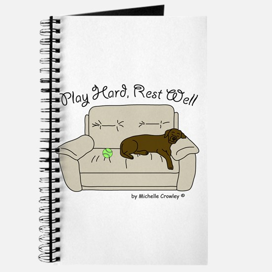Chocolate Lab - Play Hard Journal
