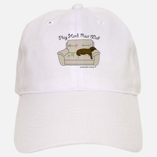 Chocolate Lab - Play Hard Baseball Baseball Cap