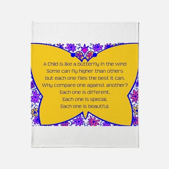 full butterfly Throw Blanket