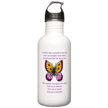 A Child Is Like a Butterfly- Stainless Water Bottl