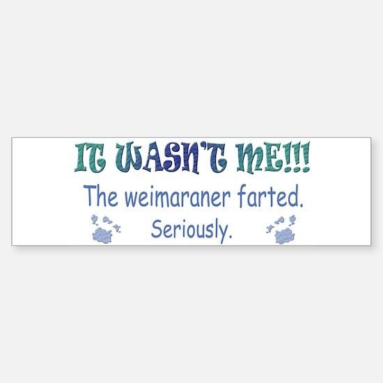 weimaraner Sticker (Bumper)