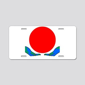 Earth for Japan Aluminum License Plate