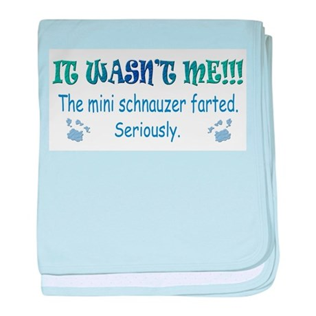 miniature schnauzer baby blanket