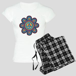 Hippie Peace Flower Women's Light Pajamas