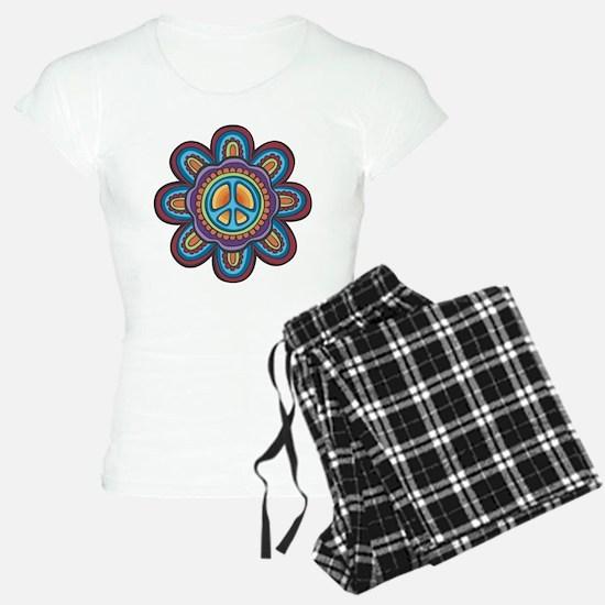 Hippie Peace Flower Pajamas