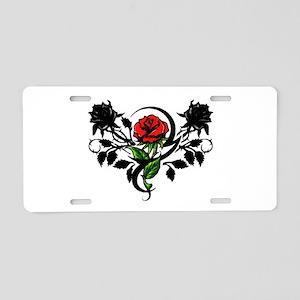 Rose tatoo Aluminum License Plate