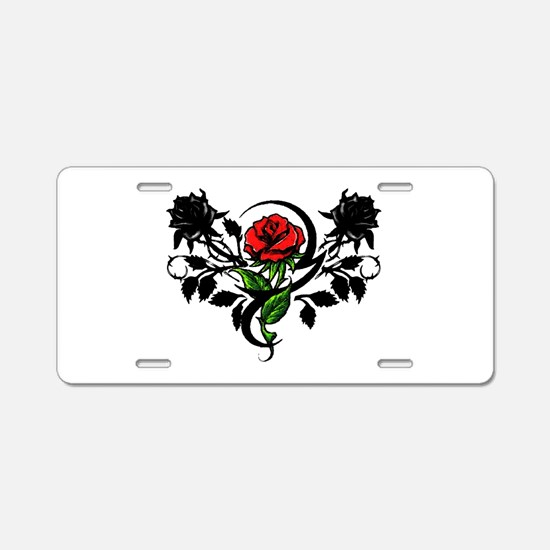 Rose tatoo Aluminum License Plate