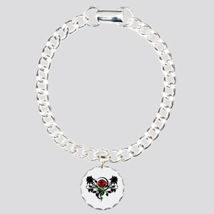 Rose tatoo Charm Bracelet, One Charm