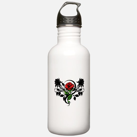 Rose tatoo Water Bottle
