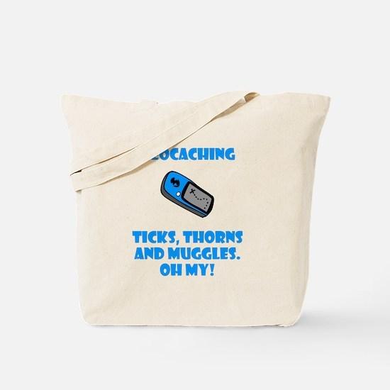 Geocaching Ticks Thorns Muggl Tote Bag