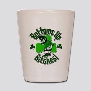 Bottoms Up Bitches Leprechaun Shot Glass