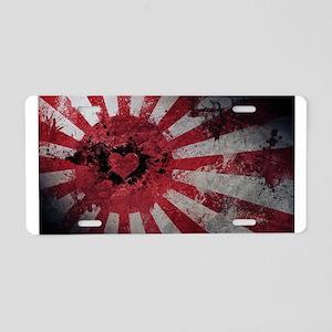 Japan Love Aluminum License Plate