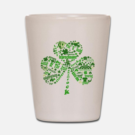 St Paddys Day Shamrock Shot Glass