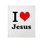 I Heart Jesus Throw Blanket