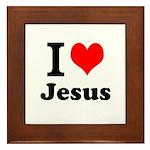 I Heart Jesus Framed Tile